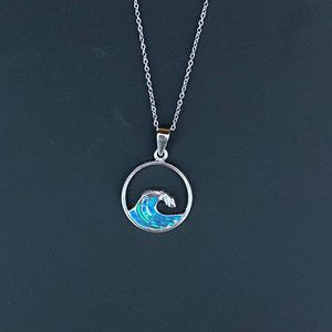 Abalone Shell Wave Beach Necklace